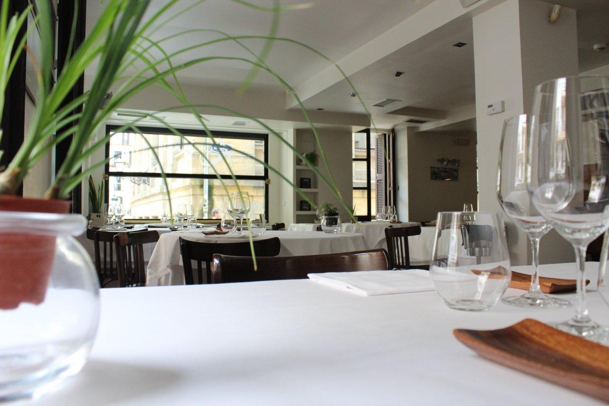 Vistas desde una mesa del restaurante Kokotxa